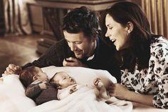 Prince Frederik and Princess Mary with newborn twins, Prince Vincent and Princess Josephine