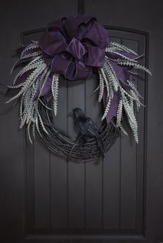 Halloween wreaths gothic home decor halloween wreath goth etsy. Halloween Door Decorations, Halloween Home Decor, Paper Decorations, Halloween Crafts, Halloween Door Wreaths, Christmas Decorations, Spooky Halloween, Halloween Camping, Halloween Porch