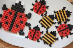 Hama beads - Ladybugs and bies