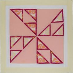 Triple Framed Pinwheel Quilt Blocks | FaveQuilts.com