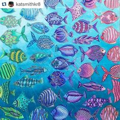 Amei esses peixinhos by  @katsmithkr8 ・#oceanoperdido  #desenhoscolorir #LostOcean #johannabasford #coloringbook