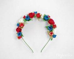 Frida Kahlo floral headband  Frida floral headpiece by Fitzberries, $21.00
