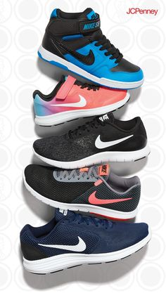 Men and women's Nike shoes give any summertime look a boost of energy. Boys' and girls' Nike sneakers are designed to jump, skip and run the season of play dates and summer camps.