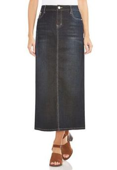 Bay Light Blue Long Jean Skirt I Reallllly Want This