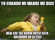 Corre!! Kevin Ortiz saliendo en la tele