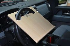 Auto ipad Car laptop tablet notepad Steering Wheel N Desk vehicle tray stand Volkswagen 181, Portable Laptop Desk, Cool Car Accessories, Interior Accessories, Van Racking, Car Seat Organizer, Computer Station, Car Office, Laptop Stand