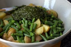 potatoes, beans and pile-o-pesto ... Smitten Kitchen
