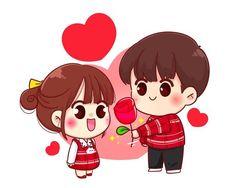 Cute Cartoon Characters, Cute Cartoon Wallpapers, Cartoon Images, Cartoon Art, Cute Love Pictures, Cute Images, Valentine Cartoon, Love Cartoon Couple, Cute Love Cartoons
