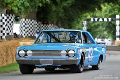 Richard Petty driving the Plymouth Belvedere GTX at Goodwood motor show 2015
