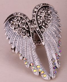 ==> consumer reviewsAngel wings stretch ring women biker bling jewelry antique gold