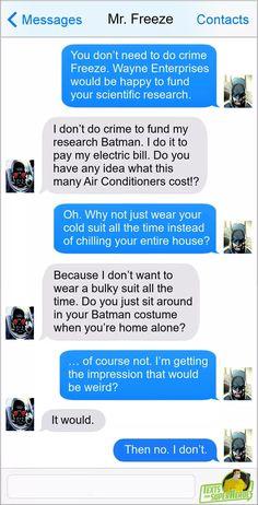 Superhero Texts, Superhero Characters, Dc Characters, Funny Marvel Memes, Dc Memes, Funny Comics, Really Funny Memes, Stupid Funny Memes, Hilarious