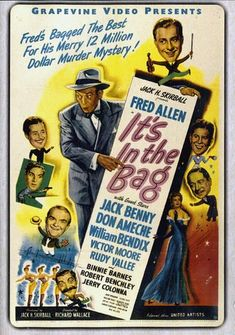 Available in: DVD. Based on the popular Russian novel The Twelve Chairs, this stars Fred Allen as flea-circus impresario Fred Floogle. Learning that Fred Allen, Don Ameche, John Carradine, Jack Benny, Presents For Him, Screenwriting, Good Movies, I Movie, The Fosters