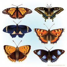 papillon vector - Buscar con Google