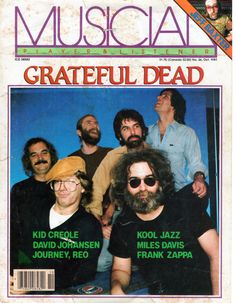 got-to-rise-above:  Grateful Dead Musician Magazine 1981a slightly moldy find from my archives…….