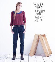 Boba Shirt // Edroso Pant // Siena Belt Siena, Belt, Suits, Fashion, Man Women, Men, Style, Women, Belts