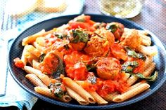 Vodka Cream Pasta with Italian Sausage Italian Main Course Pork RecipeYou can find Italian sausage pasta and more on our website.Vodka Cream Pasta w. Italian Main Courses, Italian Sausage Pasta, Cream Pasta, Vodka, Meat, Chicken, Website, Recipes, Food