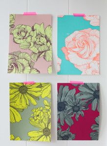 I absolutely love wallpaper and found this fabulous designer on Decor8 – Holly Becker's amazing blog