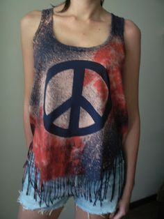 DIY Galaxy Peace Top || cool and i wont