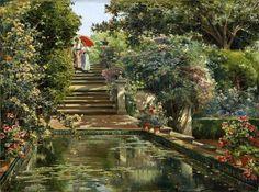 Manuel Garcia y Rodriguez - The Gardens of the Royal Alcazar, Seville, Spain