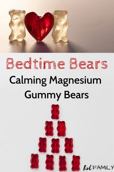 Bedtime bears calming magnesium gummy bears how to make fluffy slime 3 ingredient recipe with shaving cream Homemade Gummies, Homemade Recipe, Homemade Gummy Bears, Tart Cherry Juice, Bedtime Snacks, Healthy Snacks, Healthy Kids, Healthy Candy, Whole Food Recipes