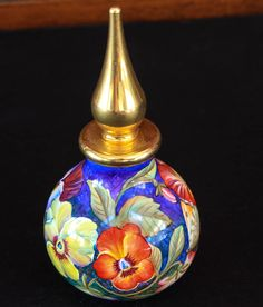 RARE Moorcroft Enamels Pansies Perfume Bottle | eBay