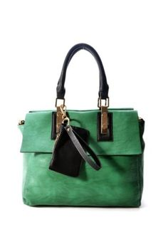 Green PU Leather Totes Shoulder Bag,Cheap in Wendybox.com