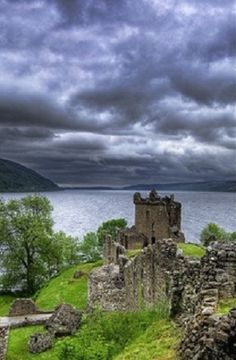 Urquhart Castle, Loch Ness, Inverness, Scotland.  It was so cold when we went that we found icicles in our hair when we got back to the hotel that night.  But so beautiful...