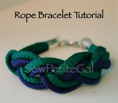 DIY Nautical Rope Bracelet Tutorial - easy, similar to Turk's head knot for a clean woven braid Rope Crafts, Bead Crafts, Jewelry Crafts, Jewelry Ideas, Dyi Crafts, Handmade Jewelry, Nautical Knots, Nautical Jewelry, Diy Nautical Bracelets