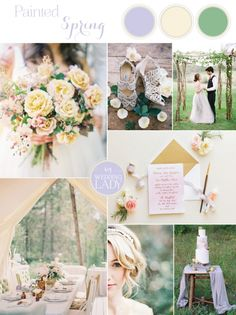 Pastel Watercolor Spring Wedding in Lilac and Sunshine