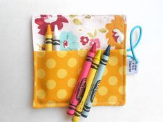 READY TO SHIP Mini Crayon Roll  Unforgettable  by paperfromheaven {Crayon Roll, Party Favor, Valentines Gift, Easter Basket Stuffer, Kids gift}
