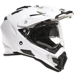THH TX-27 Dual Sport Helmet Solid White Small 55-56 cms