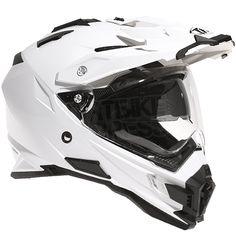 THH TX-27 Dual Sport Helmet Solid White
