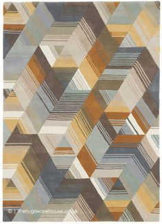 Harlequin Arccos Ochre 40206 Rug by Harlequin at Rugs.ie - Contemporary Geometric & Floral Rugs. Design Textile, Tapis Design, Textured Carpet, Patterned Carpet, Contemporary Area Rugs, Modern Rugs, Wool Carpet, Rugs On Carpet, Rug Texture