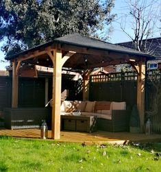Sit in your garden all day and night with the one and only Atlas gazebo! Create a space where you can escape from day to day life and chill with your loved ones. Backyard Gazebo, Pergola, Roof Brackets, Wooden Gazebo, Garden Buildings, Roof Design, Garden Projects, Garden Inspiration, Garden Furniture
