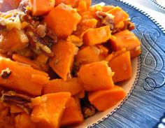Sweet Potatoes with bacon & pecans