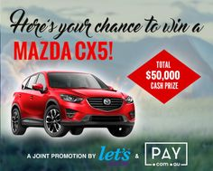 Hey there,I just answered a family survey for a Chance to Win a Mazda CX5!You can Enter too here -