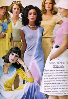 HALSTON - Pat Cleveland, Shelley Hack, Angelica Houston | Flickr - Photo Sharing!