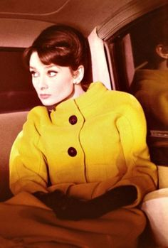 Audrey Hepburn in Charade, 1963. great fashion, if not a great plot.