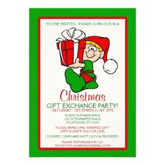 Christmas Gift Exchange Party Invitation