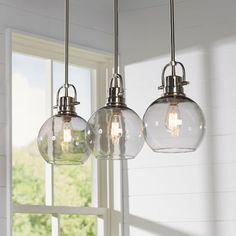 Glass Pendant Lights Over Kitchen Island Round Pendant Lights