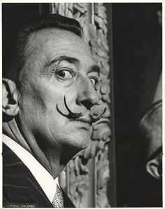 Salvador Dali says WHAT? Salvador Dali, 1958 / Alfredo Valente, photographer. and Salvador Dali, 1958 / Alfredo Valente, photographer. Both from: Alfredo Valente papers, Archives of American Art, Smithsonian Institution.