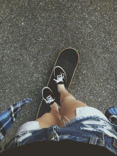 skater girl in vans