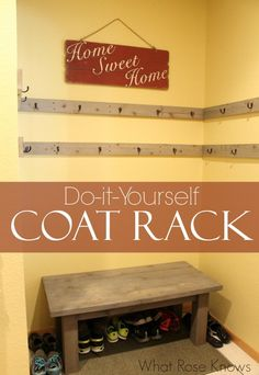 Diy Coat Rack For Open Space Or Closets