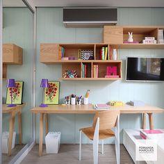 Quarto de menina em tons pastéis  Girl bedroom in pastel shades
