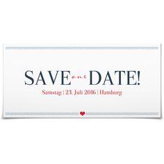 Save the Date Herzensangelegenheit in Ozean - Postkarte lang #Hochzeit #Hochzeitskarten #SaveTheDate #Foto #modern #Typo https://www.goldbek.de/hochzeit/hochzeitskarten/save-the-date/save-the-date-herzensangelegenheit?color=ozean&design=e99f3&utm_campaign=autoproducts