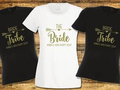 Personalised Hen Night T-Shirt Hen Do Hen Bride Tribe Party