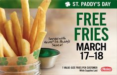 Yummy! Free Fries with Green HEINZ at Burger King this Weekend Only. Who's going to try it first? http://www.ilovefreethings.com/free-stuff/free-fries-at-burger-king-march-12753.html