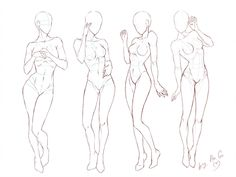 Tutorial_Female poses by ChioShin on DeviantArt Body Reference Drawing, Drawing Reference Poses, Female Pose Reference, Drawing Tips, Anatomy Poses, Anatomy Art, Anatomy Drawing, Character Poses, Character Art
