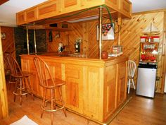 The bar in the rec room