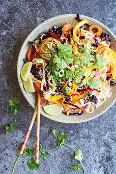 Rainbow Noodle Salad